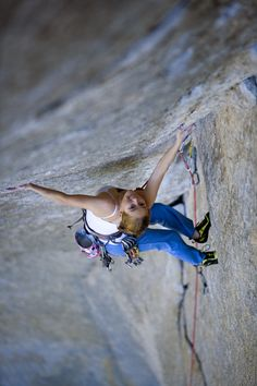 Beth Roden on Book of Hate, 5.13d, Yosemite, CA. © Corey Rich