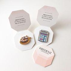 #굿즈 • Instagram 사진 및 동영상 Jewelry Packaging, Brand Packaging, Box Packaging, Motif Tropical, Badge Design, Cute Pins, Pin And Patches, Packaging Design Inspiration, Grafik Design