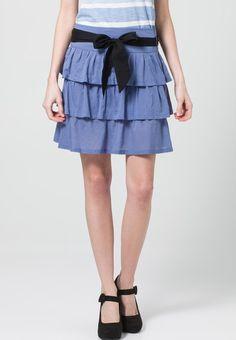 Even - Falda plisada - azul