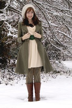 This is a cute winter outfit!