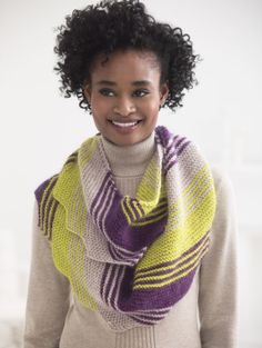 Loop Scarf...free knit loop scarf.  Use Lion Brand LB Collection Superwash Merino and Silk Mohair, is dk weight #3 yarns...