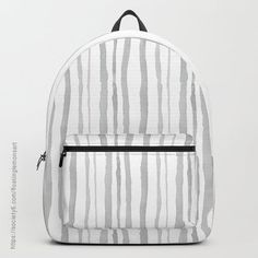 Grey Watercolour Stripes on Simply Beautiful Gifts for your Home and Lifestyle — Floating Lemons Art Striped Backpack, Striped Tote Bags, Beautiful Gifts, Simply Beautiful, Lemon Art, Striped Shower Curtains, Surface Pattern Design, Grey Stripes, Watercolour