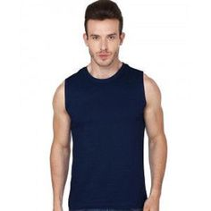 SALE + Free Ship Menscave7 NWT LAYER 8 PERFORMANCE SLEEVELESS ATHLETIC SHIRT #fitness LARGE BLUE  #gym