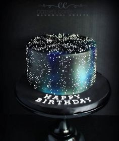 How much fun is this galaxy-themed birthday cake? Celebrating a sweet girl I kno. - Cakes 🍰 - How much fun is this galaxy-themed birthday cake? Celebrating a sweet girl I kno… , - {hashtag} Gorgeous Cakes, Pretty Cakes, Cute Cakes, Amazing Cakes, Themed Birthday Cakes, Themed Cakes, Birthday Cake Girls, Special Birthday Cakes, Custom Birthday Cakes