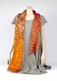 Digitaal gedrukte zijden sjaals 800-015