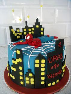 Örümcek Adam Temalı Butik Doğumgünü Pastası.! Spiderman Birthday Cake.!