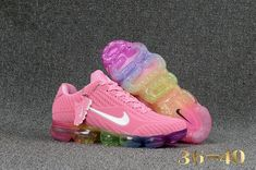 Pink running shoes - Nike Air Vapor Max 2018 KPU Pink White MultiColor Thirty years of technological innovation culminates on the crowning achievement of Air Max Day 2017 the Nike Air VaporMax Plyknit Kpu From Shoesextr Cute Sneakers, Sneakers Mode, Cute Shoes, Sneakers Fashion, Me Too Shoes, Shoes Sneakers, Air Max Sneakers, Adidas Fashion, Shoes Men