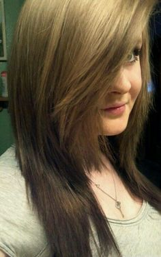 My reverse ombre hair(: #Reverse #Ombre