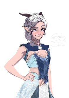 Rayla Dragon Prince, Prince Dragon, Dragon Princess, Fantasy Character Design, Character Concept, Character Inspiration, Character Art, Dnd Characters, Fantasy Characters