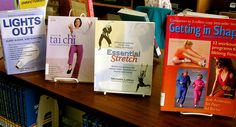 Books on getting in shape and healthy are on display for spring at the Lester Public Library.
