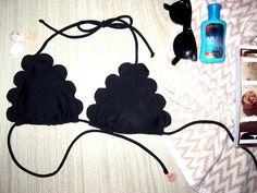 DIY Chloe scalloped bikini DIY Swimwear DIY Clothes DIY Refashion