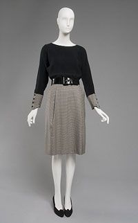 Woman's Ensemble: Top, Skirt, and Belt