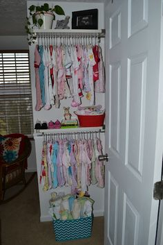 Chic Spaces for Little Faces: Nursery Transformation Part 4: Shelves to Display Baby Clothes