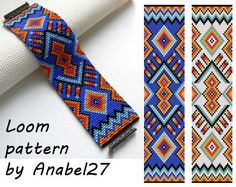 Loom bead pattern ethnic style beaded by ColorfulBeadPatterns