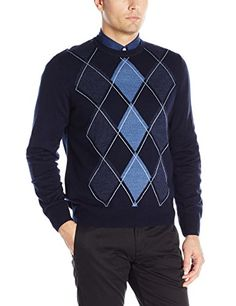8889300e849 Dockers Men s Argyle Crew-Neck Long-Sleeve Soft Acrylic Sweater Mens Argyle  Sweater