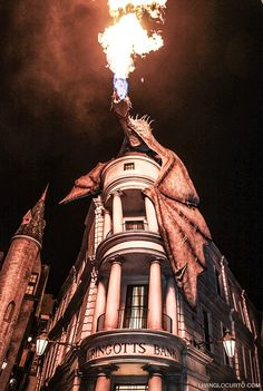 Gringotts Bank Dragon Diagon Alley. 10 Things you MUST do at Universal Orlando! Learn about rides and attractions you can't miss! What's new and coming soon at the Wizarding World of Harry Potter and more with family vacation and travel tips. LivingLocurto.com