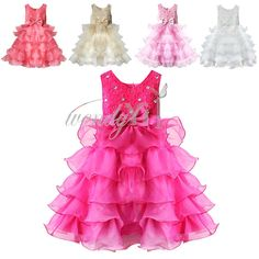 Flower Girl Dress Princess Pageant Wedding Bridesmaid Party Vintage Dresses 2-10 #Fashion #DressyEverydayHolidayBirthdayPartyWedding