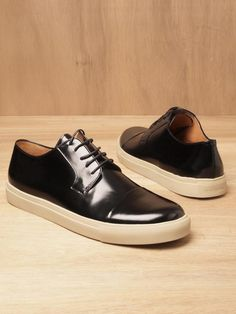 2a49b822525 Dries Van Noten Men s Leather Toe Cap Sneakers Leather Sneakers