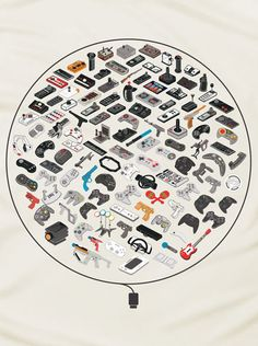 Every notable controller ever made for a video game console--over 60 years and 100 controllers--all on one shirt. $20