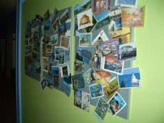 A possible way for the kids to display their souvenir postcards.