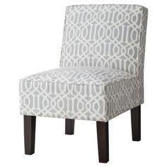 Slipper Chair - Gray Lattice