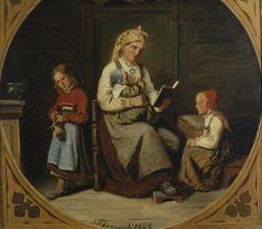 maleri familie 1800 tallet - Google-søk Labrador, Google, Painting, Art, Photo Illustration, Craft Art, Paintings, Labradoodle, Kunst