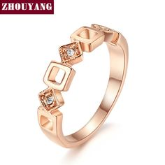 982e4a28ee25 Concise Crystal Ring Rose Gold Color Austrian Crystals Ring for Women    Price   8.99