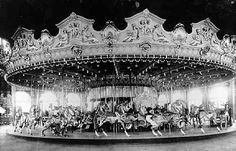 Dentzel Carousel, Pickering Pier - This beautiful Dentzel carousel featured a variety of different animals. It perished in the 1924 pier fire.