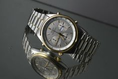 MEN& Seiko Vintage Chronograph Steel 40 mm Day/date Quartz Watch Seiko Vintage, Quartz Watch, Omega Watch, Chronograph, Rolex Watches, Steel, Stuff To Buy, Men, Accessories