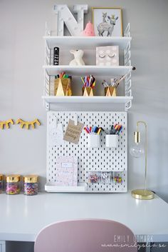 Twin Girl Bedrooms, Little Girl Rooms, Small Craft Rooms, Study Room Decor, Home Office Design, Kid Spaces, My Room, Kids Bedroom, Decoration