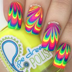 Water Marble by Yagala from Nail Art Gallery