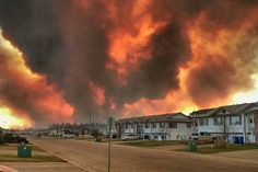 A raging wildfire has forced the evacuation of the entire northern Alberta city of Fort McMurray, and the evacuees of the oilsands city have captured unbelievable scenes as they escaped the inferno.