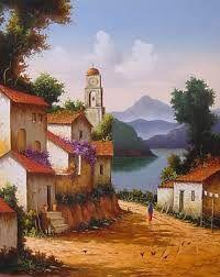 Resultado de imagen para pinturas primitivistas al oleo
