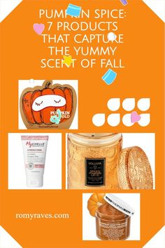 Yes, I admit I am clearly obsessed with all things pumpkin - and now, aside from the addictive beverages, here's a list of some AMAZ skin care products you must try.. Enjoy