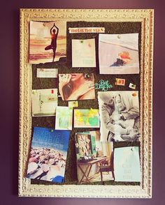 This is my 2016 vision board that I love looking at. I'm going to keep it in my office but work on a new 2017 one. Did you know that today is National Vision Board day?  Comment below if you make vision boards. I'd love to see them