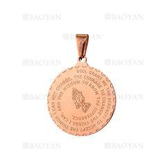dije con letras de oro rosado en acero para mujer- SSPTG321517