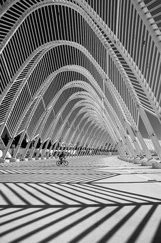 oaka stadium, extreme architecture, shadow architecture, athens greece, santiago calatrava, architecture abstract, yanni prappa, abstract architecture, architecture greece