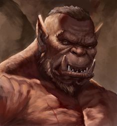 "My another orc portrait for my randomly created ""Orc portraits series"" . Also practicing how to color. Hope guys you like it! Dungeons And Dragons Characters, Dnd Characters, Fantasy Characters, Game Character, Character Concept, Character Design, Weird Creatures, Fantasy Creatures, Fantasy Heroes"