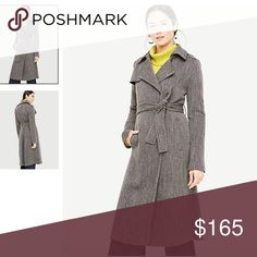 Ann Taylor new with Tag Long Twill Trench Coat Siz Ann Taylor new with Tag Long Twill Trench Coat Size: Regular 2 Color: Black MultiElegant , high quality trench coat. Ann Taylor Jackets & Coats Trench Coats