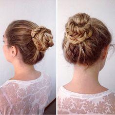 Fishtaill braided bun