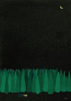 """제주일러스트 _ """"제주의 밤"""" : 네이버 블로그"""