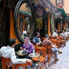 El FeShawy Cafe✫♥✫  In the alleys of Khan el Khalili sits one of Cairo's oldest cafés, visiting this ahwa is a sightseeing trip in itself. Egyptian coffeehouses like Fishawi's Ahwa, have been important gathering places since Islamic times