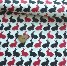 oops, fabric bunny, from Fabric Rehab. Textile Patterns, Textiles, Paper Bunny, New Crafts, Bunnies, Fabrics, Kids Rugs, Buttons, Japanese