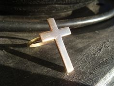 Cross Ring by JennKoDesign on Etsy, $20.00