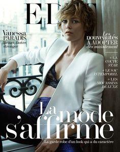 Ce mois-ci Vanessa Paradis fait la couverture du magazine The Edit en lingerie fine.