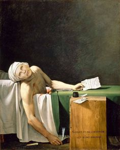 Jacques-Louis David, The Death of Marat, I loved David, he was the art director, performance artist and chronicler of the French Revolution. David Painting, Invention Of Photography, Renaissance Kunst, French Revolution, Caravaggio, Classical Art, Art For Art Sake, Les Oeuvres, Art History