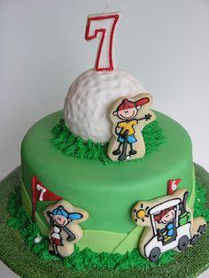 Golf cake.  Learn Amazing #Cakes #Design on Cake Decorating Courses http://CakeDecoratingCoursesOnline.com
