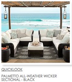 Outdoor living. Palmetto all-weather wicker