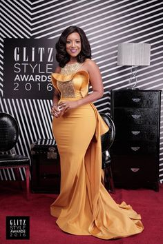 2017 Sexy Mermaid Evening Dress Scoop Neck Crystal Beaded Satin Dusty Yellow Plus Size Celebrity Dresses African Women Formal Evening Gowns Evening Party Gowns, Mermaid Evening Dresses, Formal Evening Dresses, Formal Prom, African Fashion Dresses, African Attire, African Dress, Beautiful Dresses, Nice Dresses