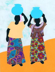 African DIY quilt kit called Water Walk by tambocollection on Etsy, $11.00
